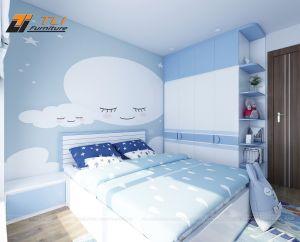Thiết kế nội thất phòng ngủ trẻ em tại chung cư An Bình City
