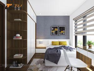 Thiết kế nội thất phòng ngủ con trai lớn đẹp hiện đại