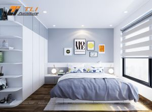 Thiết kế nội thất phòng ngủ con trai hiện đại - Anh Hùng