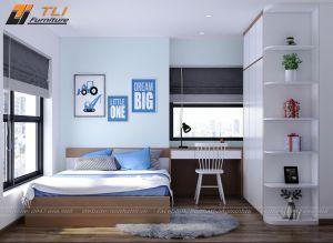 Thiết kế nội thất phòng ngủ bé trai hiện đại cá tính