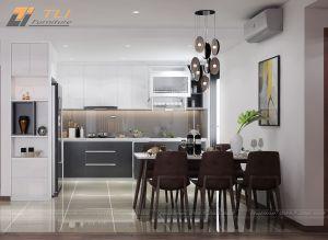 Thiết kế nội thất bếp đẹp tại chung cư Goldmark City