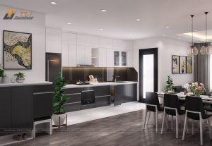Thiết kế nội thất phòng bếp chung cư Thanh Hà Cienco 5