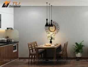 Mẫu thiết kế thi công phòng bếp chung cư Golden Heart
