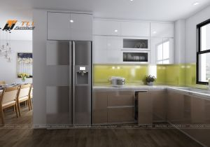 Thiết kế nội thất nhà bếp thông minh cho gia đình anh Đô