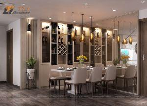 Thiết kế thi công nhà bếp đẹp - chung cư AZ Lâm Viên
