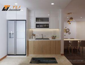 Thiết kế nội thất phòng bếp đẹp tại tòa nhà Ruby 2