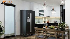 Thiết kế nội thất phòng bếp chung cư One 18 Ngọc Lâm
