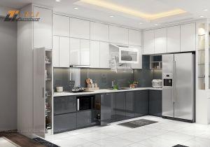 Thiết kế nội thất phòng bếp chung cư Vimeco tòa CT4