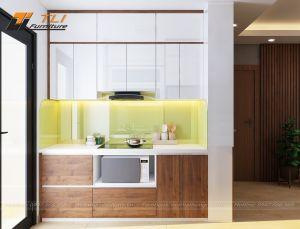 Trang trí nội thất phòng bếp chung cư Gelexia