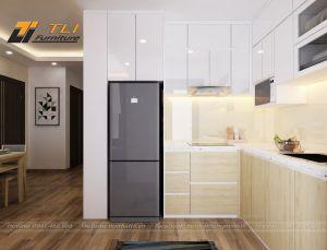 Thiết kế nội thất phòng bếp nhỏ tại chung cư An Bình City