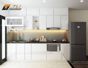 Thiết kế nội thất phòng bếp đẹp tại chung cư Goldseason