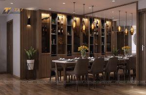 Thiết kế nội thất phòng bếp đẹp sang trọng - Chị Trang