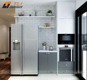 Thiết kế bếp đẹp cho chung cư gia đình anh Tùng