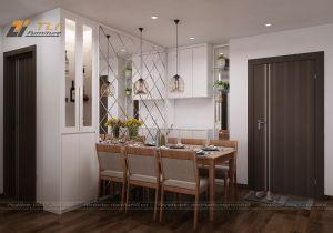 Mẫu thiết kế nội thất nhà bếp cho gia đình chị Hạnh