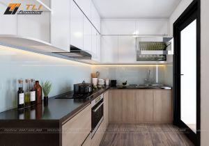 Thiết kế nội thất nhà bếp hiện đại cho gia đình anh Huy