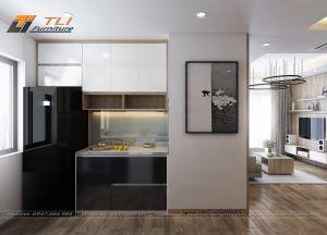 Thiết kế nhà bếp đơn giản cho gia đình anh Hưng