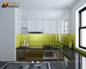 Mẫu nội thất nhà bếp đẹp hiện đại cho căn hộ chú Trường