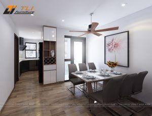 Thiết kế nội thất bếp hiện đại cho gia đình anh Hữu