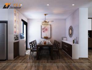 Thiết kế nội thất phòng bếp  nhỏ cho gia đình chú Sang