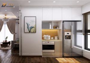 Thiết kế nội thất nhà bếp đẹp tại chung cư An Bình City