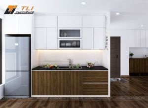 Thiết kế nội thất phòng bếp nhỏ cho gia đình Chú Hà