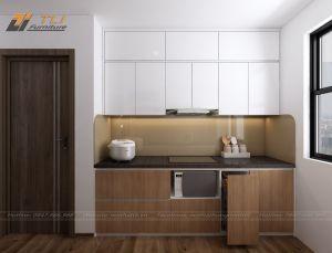 Thiết kế nội thất bếp chung cư cho gia đình anh Nam