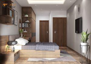 Trang trí nội thất phòng ngủ đơn giản - Chung cư Vimeco