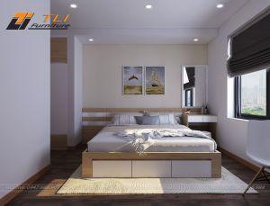 Thiết kế thi công nội thất phòng ngủ hiện đại - Goldmark City