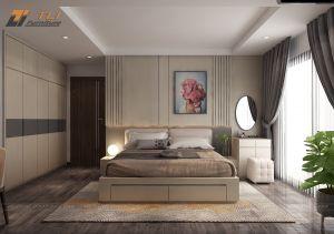 Thiết kế nội thất phòng ngủ đẹp sang trọng cho căn hộ anh Hậu