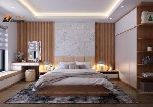 Mẫu nội thất phòng ngủ hiện đại đơn giản cho căn hộ anh Đô