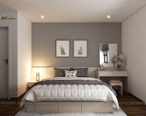 Thiết kế nội thất phòng ngủ chung cư căn hộ chị Ly