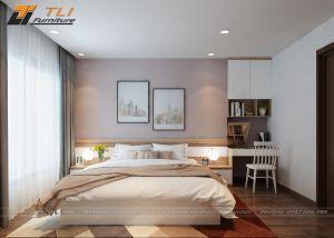 Thiết kế nội thất phòng ngủ đơn giản tại chung cư Green Bay