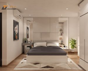 Thiết kế nội thất phòng ngủ hiện đại tại chung cư Mandarin Garden