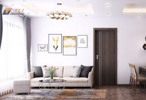 Mẫu phòng khách hiện đại đơn giản cho chị Hương - An Bình City