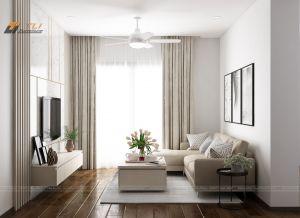 Ấn tượng mẫu thiết kế phòng khách đẹp tại chung cư Gold Season