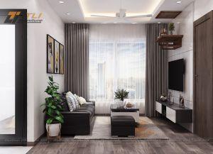 Thiết kế nội thất phòng khách nhỏ tại chung cư Cienco 5