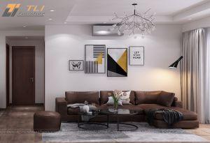 Mẫu nội thất phòng khách chung cư đẹp ấn tượng  - anh Tư