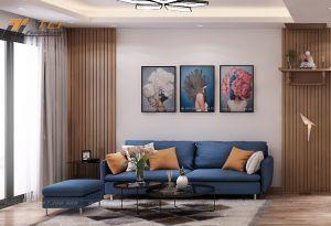 Mẫu thiết kế phòng khách nhỏ hiện đại anh Huy - Mandarin Garden