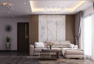 Ấn tượng mẫu phòng khách chung cư đẹp anh Thăng - Az Lâm Viên