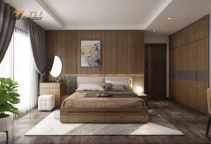 Mẫu nội thất phòng ngủ đẹp cho gia đình anh Thăng