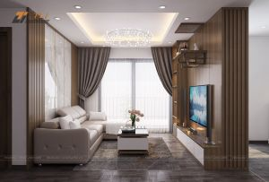 Ấn tượng mẫu thiết kế nội thất chung cư 2 phòng ngủ