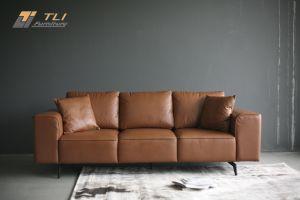 Mẫu ghế sofa văng da thật cao cấp - TLIVD21