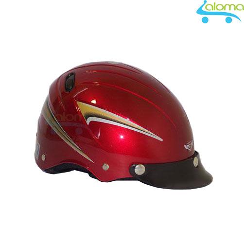 Mũ bảo hiểm lưỡi trai rời đỏ đun tem đồng BKtec BK2-1 (đã kiểm định chất lượng)