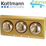 Đèn sưởi nhà tắm 3 bóng Kottmann K3B-Y