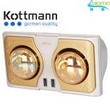 Đèn sưởi nhà tắm giữ ấm 2 bóng Kottmann K2B