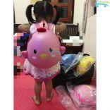 Balo hình con gà đựng quần áo sách vở cho bé CK-25 (Hồng)