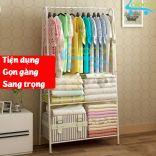 Kệ chữ A khung sắt treo quần áo để chăn màn đồ dùng HomeBi HB-KCA