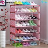 Kệ để giày dép quần áo inox 6 ngăn hình hoa HomeBI HB-6R