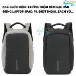 Balo siêu rộng chống trộm đựng laptop, ipad kèm sạc usb OZUKO OZ-44