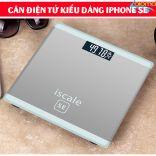 Cân sức khỏe điện tử 180kg kiểu dáng iphone ISCALE SE-SILVER